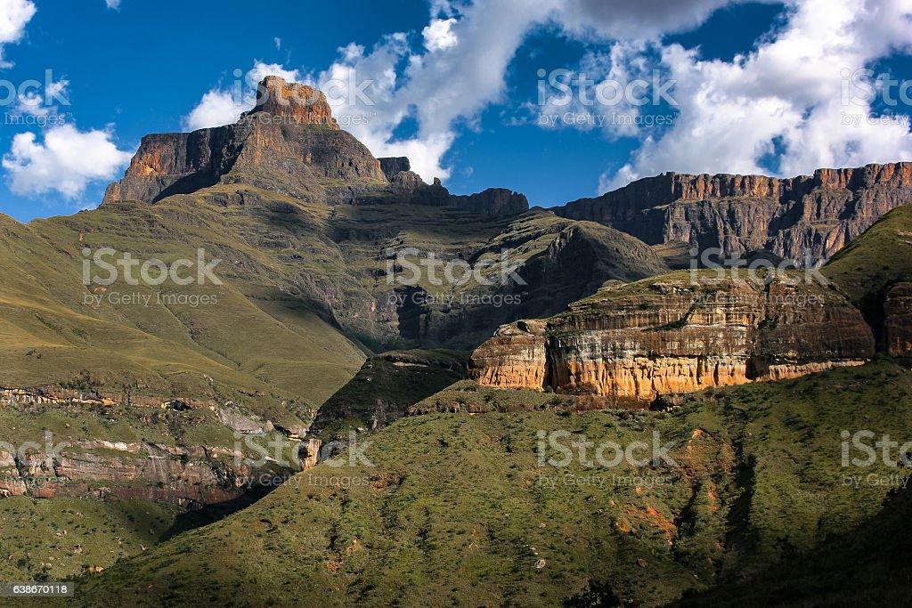 Amphitheater, Drakensberg mountains stock photo