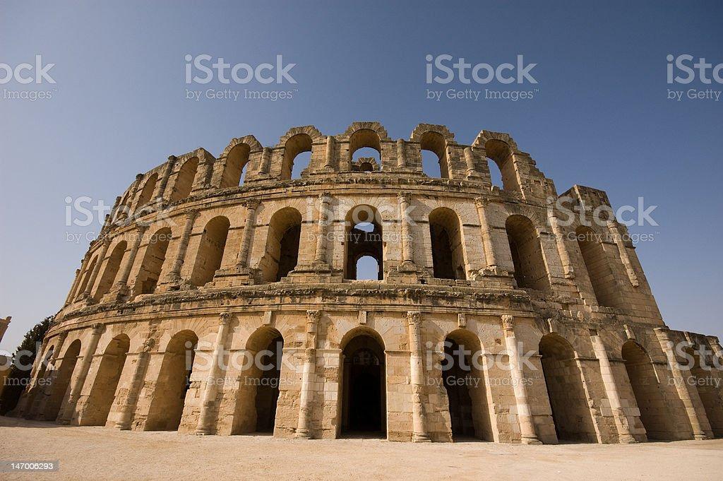 Amphitheater El Djem stock photo