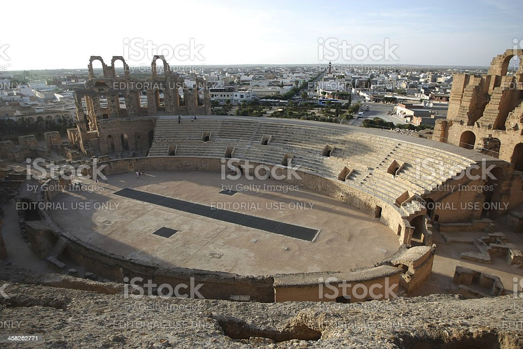 Amphitheater in El Djem stock photo