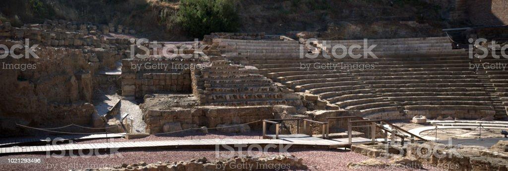 Amphitheater in Malaga foto stock royalty-free