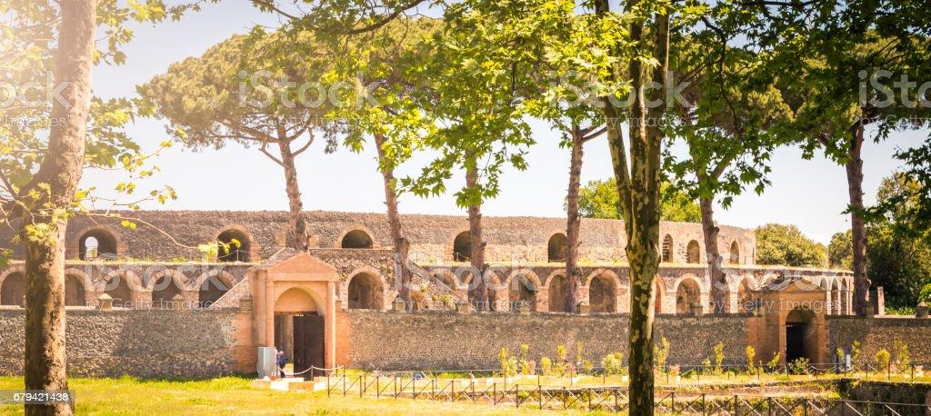 Amphithéâtre à Pompéi photo libre de droits
