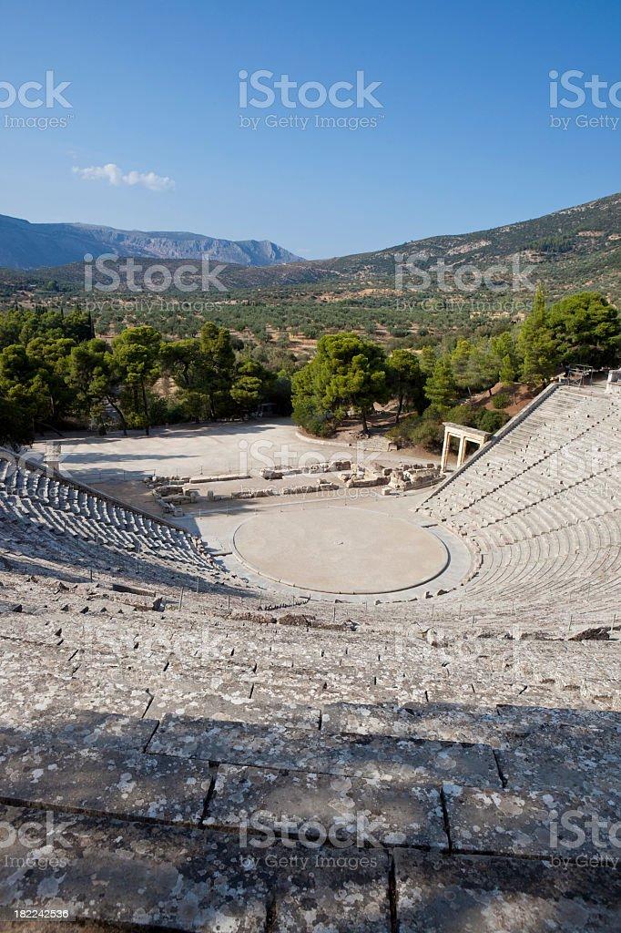 Amphitheater of Epidaurus XXXL royalty-free stock photo