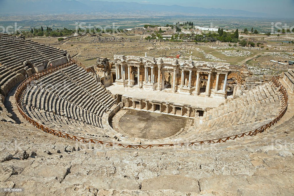 Amphitheater of Hierapolis, Turkey stock photo