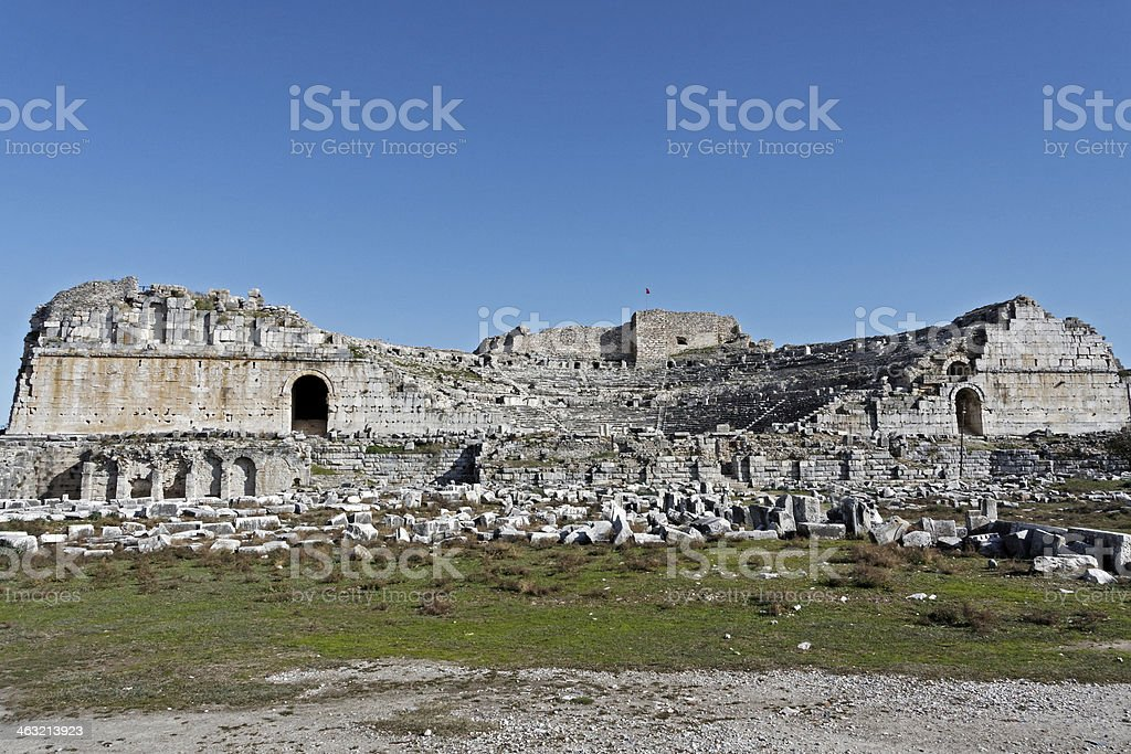 Amphitheater of Milet royalty-free stock photo