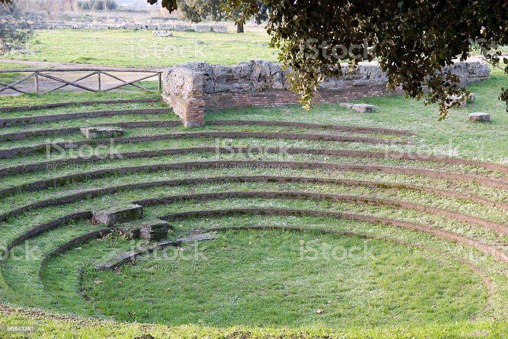 amphitheater (Paestum, Italy) stock photo