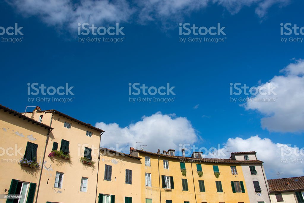 Amphitheater Square in Lucca stock photo