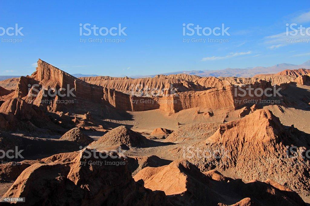 Amphitheater, valle de la Luna, valley of the moon, Atacama photo libre de droits
