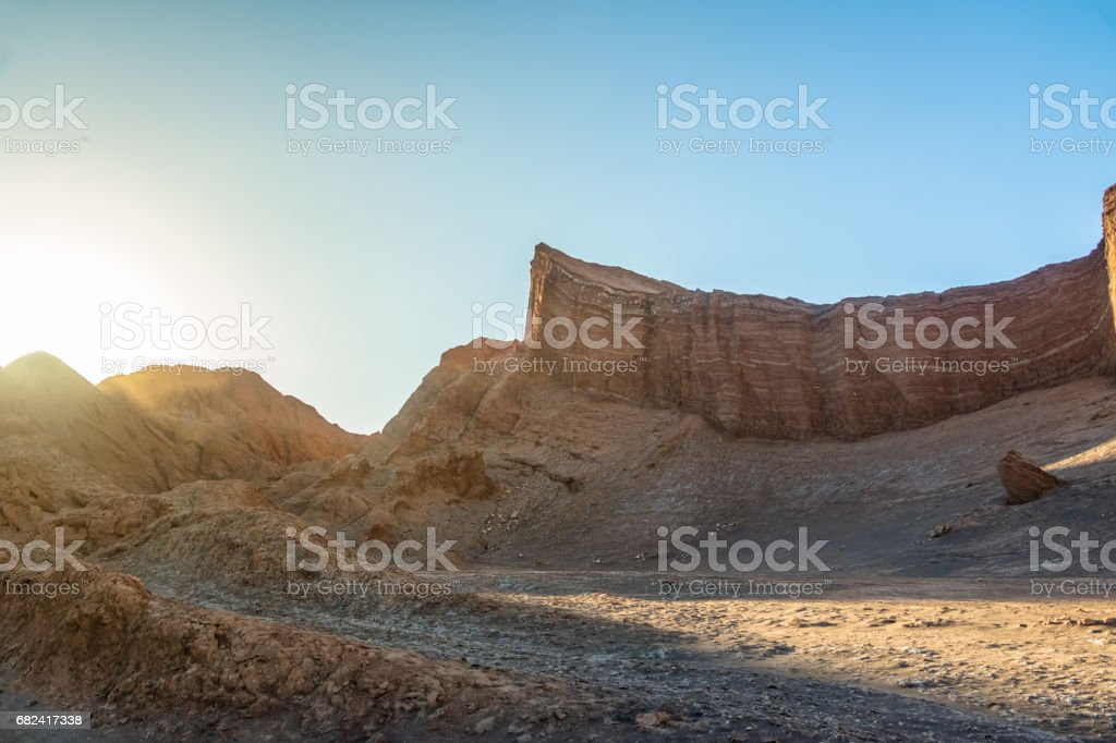 Amphitheatre formation at the Moon Valley - Atacama Desert, Chile royalty-free stock photo