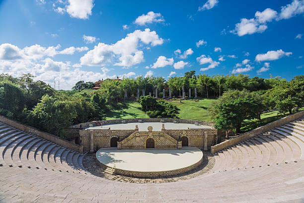 Amphitheatre in Altos de Chavon stock photo