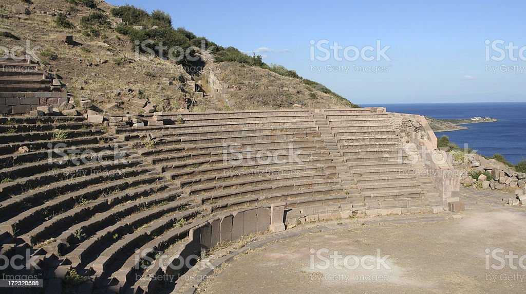 Amphitheater in Assos royalty-free stock photo