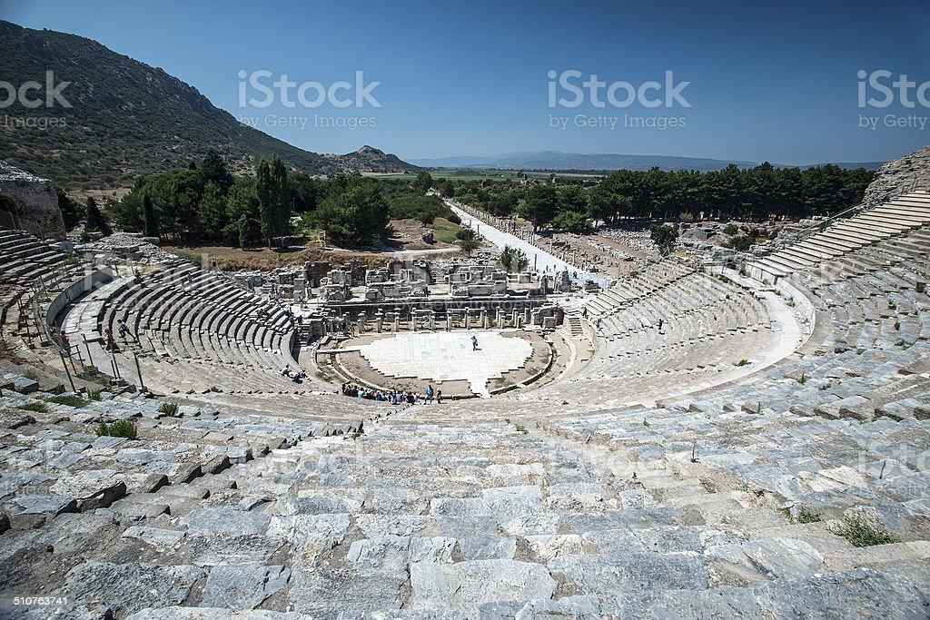 Amphitheatre in Ephesus stock photo