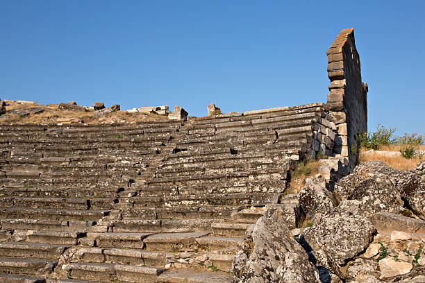 Amphitheatre of Aizanoi in Cavdarhisar, Kutahya, Turkey stock photo