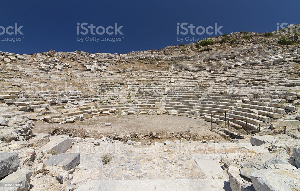 Amphitheatre of Knidos stock photo