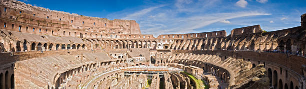Amphitheatre of the Coliseum Rome  palatine hill rome stock pictures, royalty-free photos & images