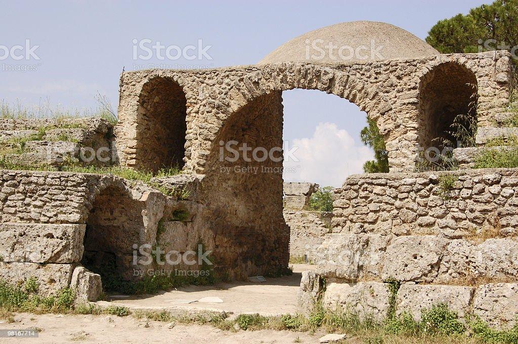 Amphitheatre, Paestum royalty-free stock photo