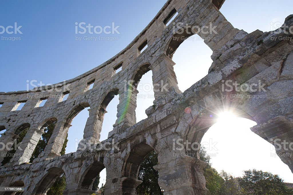 Amphitheatre, Pula, Croatia royalty-free stock photo