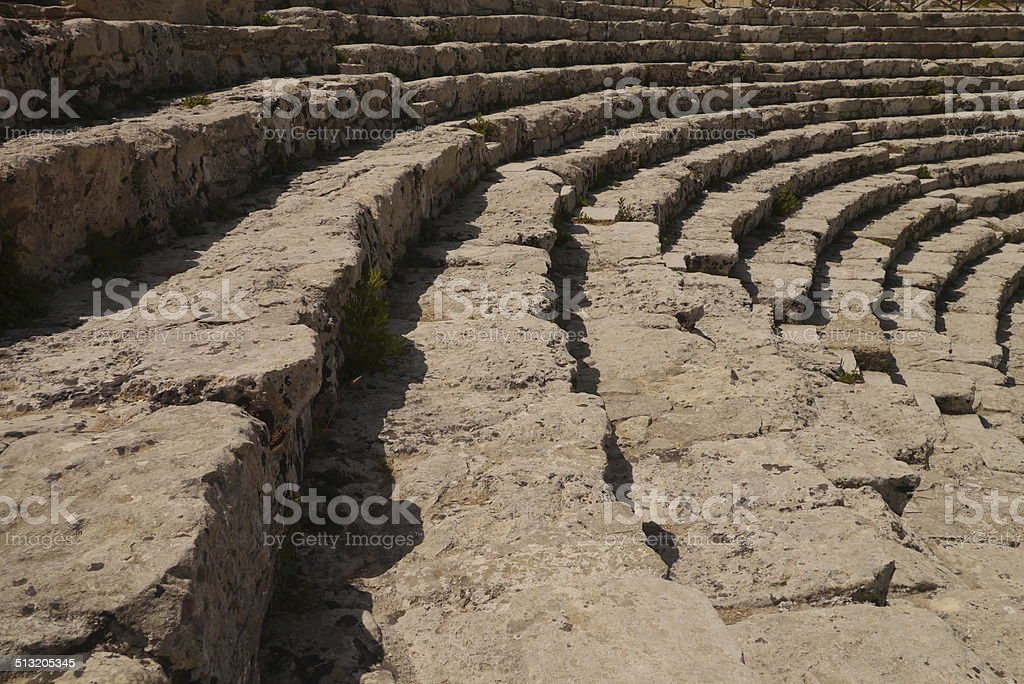Amphitheatre Segesta stock photo