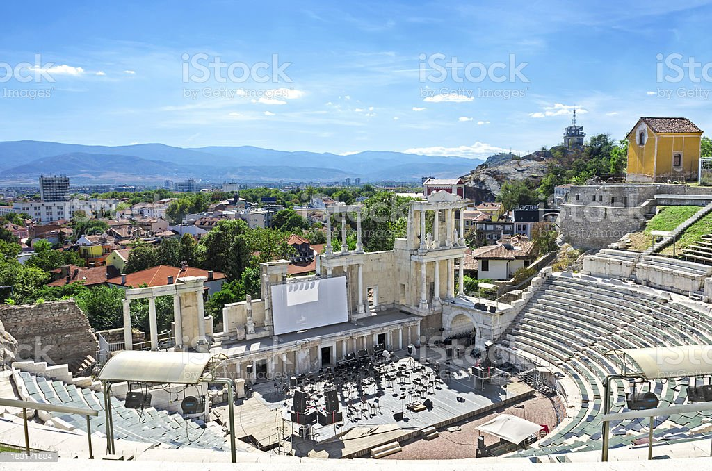 Amphitheatre Views stock photo