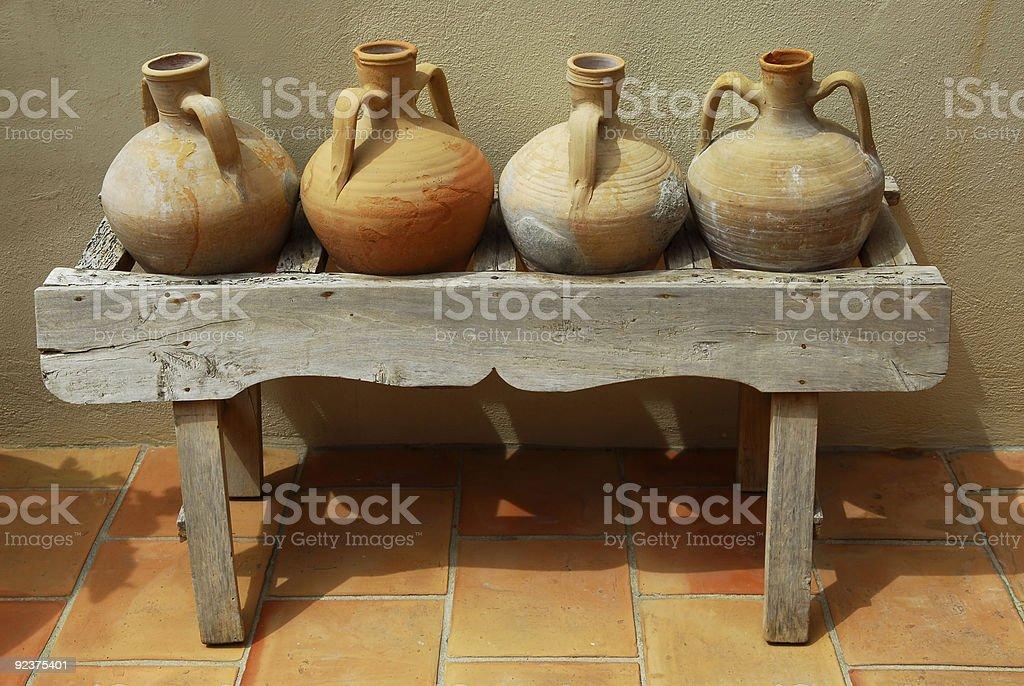 Amphoras royalty-free stock photo