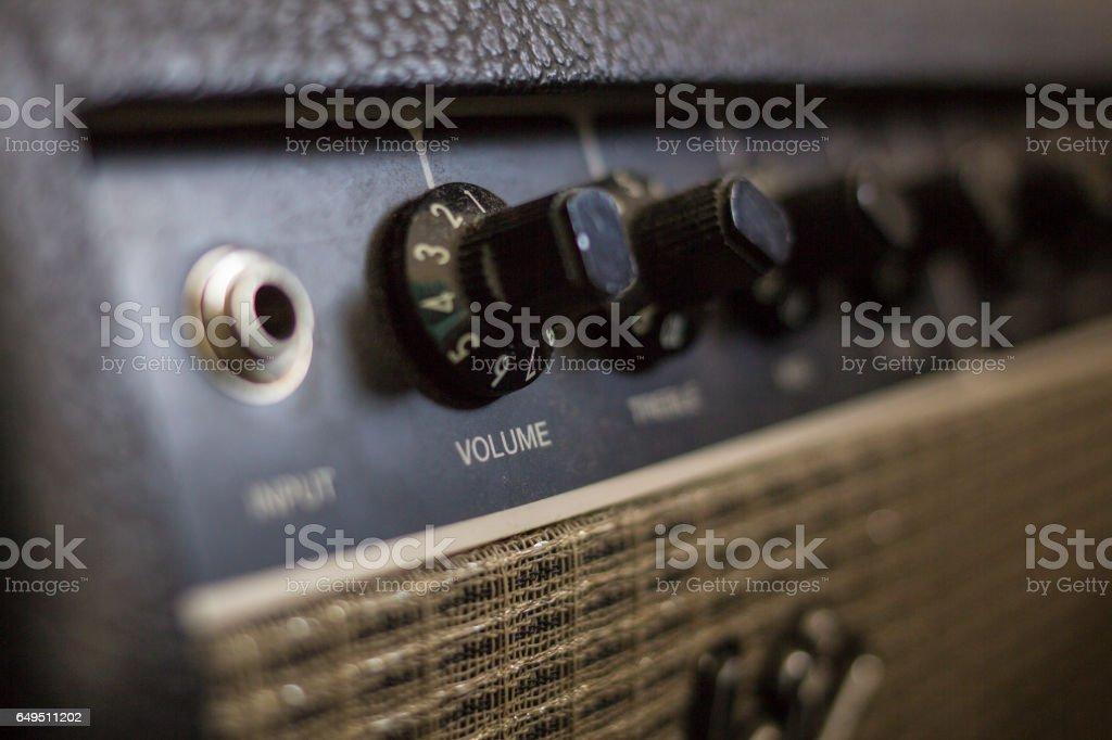 Amplificador de guitarra eléctrica - foto de stock