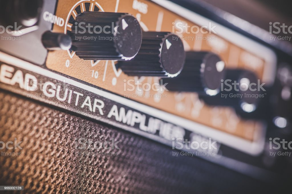 Amplifier stock photo