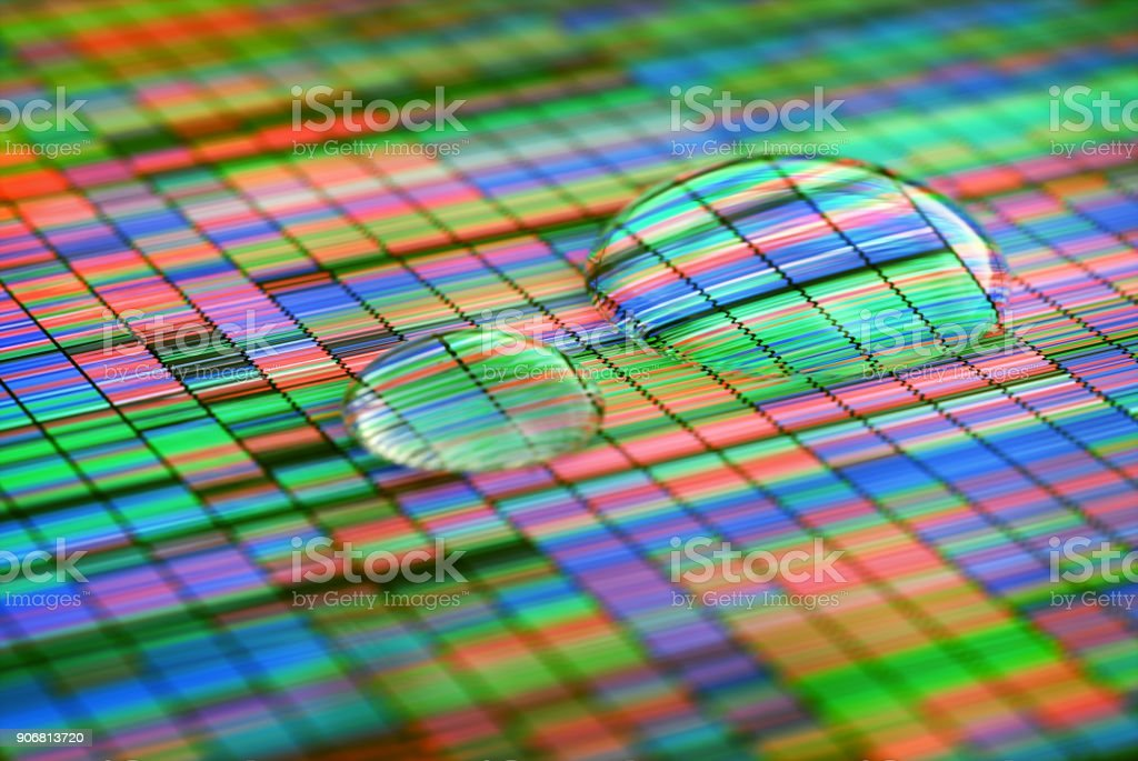Amplifying Colorful Sanger Sequencing stock photo
