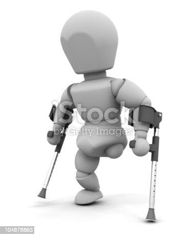 istock amputee on crutches 104878863