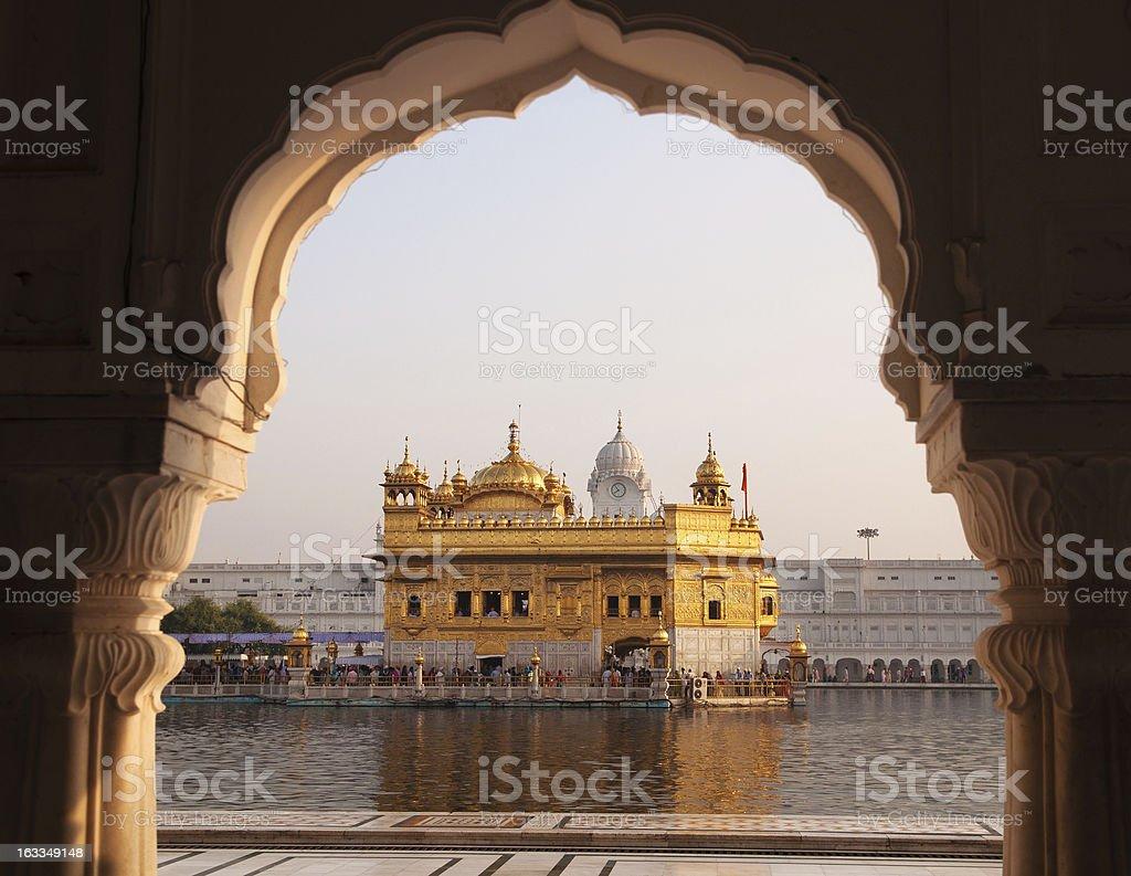 Amritsar Golden Temple - India. stock photo