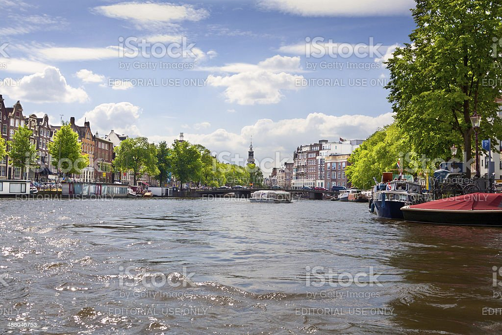 Amstel River, Amsterdam. royalty-free stock photo