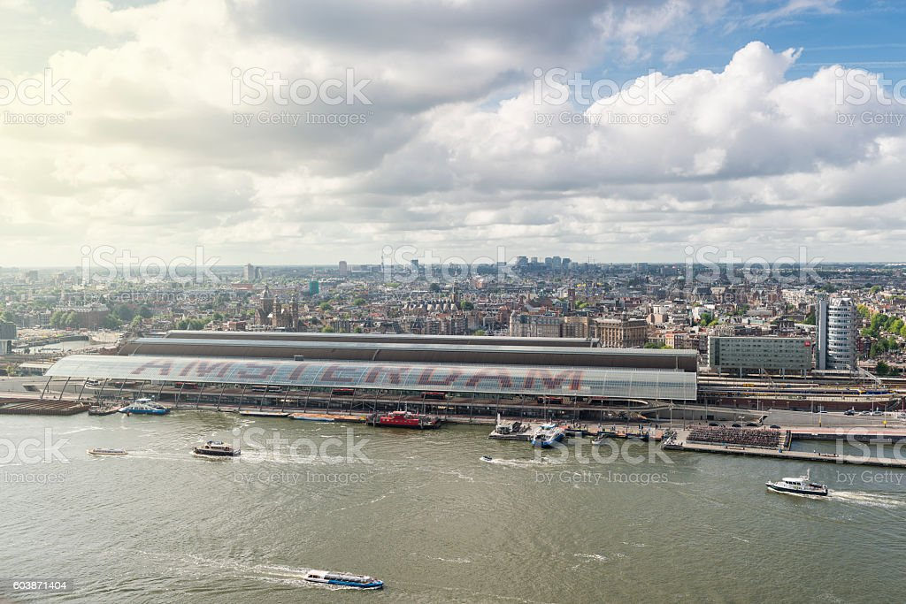 Amsterdam aerial view stock photo