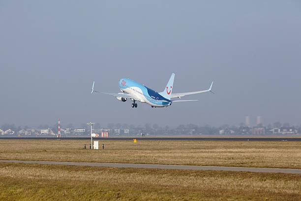 Amsterdam Flughafen Schiphol-Boeing 737 Von TUI Fluggesellschaften Niederlande – Foto