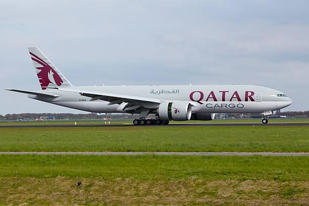 Amsterdam Airport Schiphol-Boeing 777 Von Qatar Airways Cargo – Foto