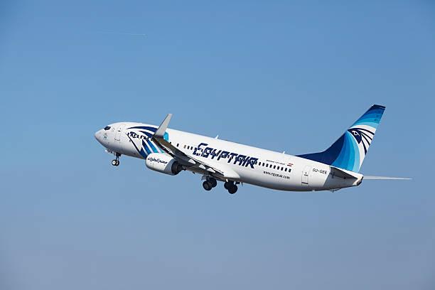 Amsterdam Flughafen Schiphol-Egyptair Boeing 737 nimmt – Foto