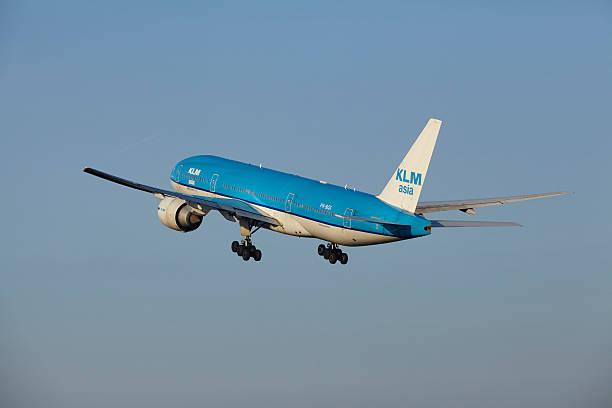 Amsterdam Flughafen Schiphol-KLM Boeing 777 ist Ermäßigung – Foto