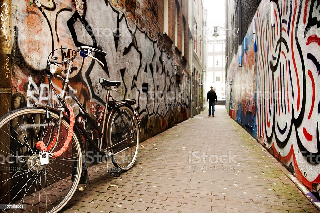 Amsterdam Alley royalty-free stock photo