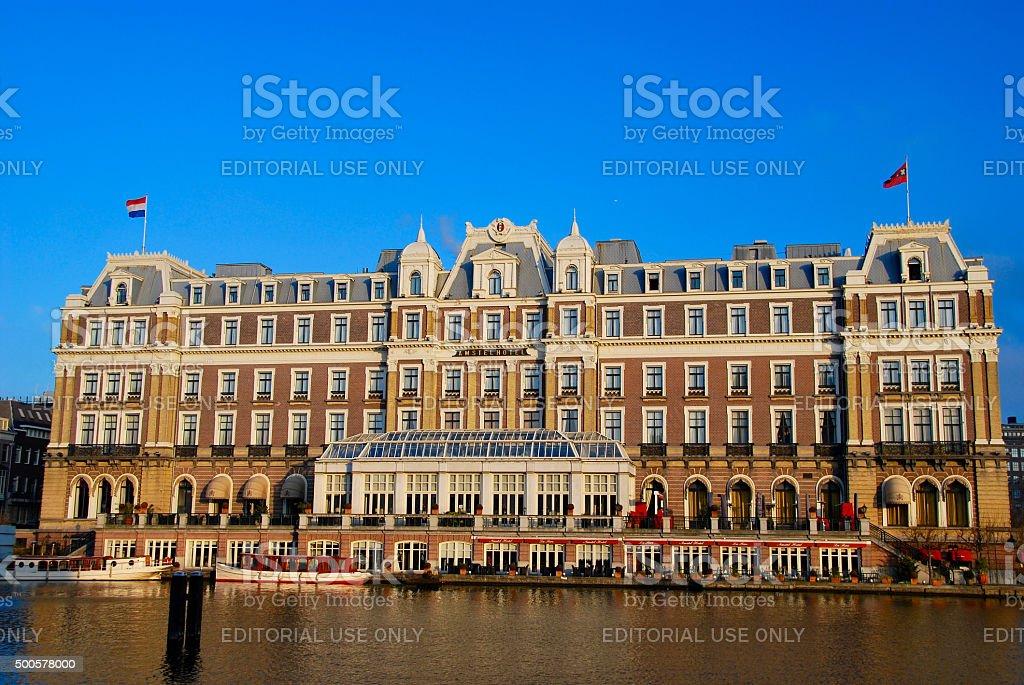 Amsterdam Amstel Hotel stock photo