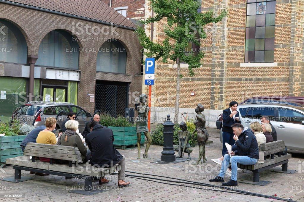 Amsterdam and Belgium, Sept., 2017 stock photo