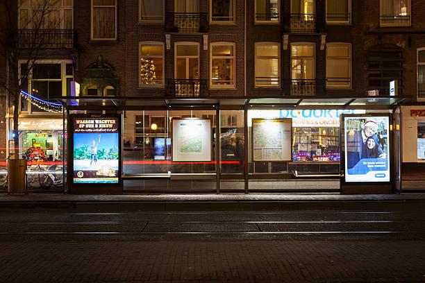 Amsterdã à noite - foto de acervo