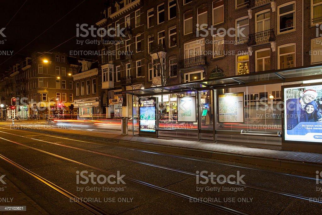 Amsterdam at night stock photo