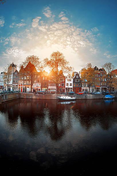 Amsterdam autumn. stock photo