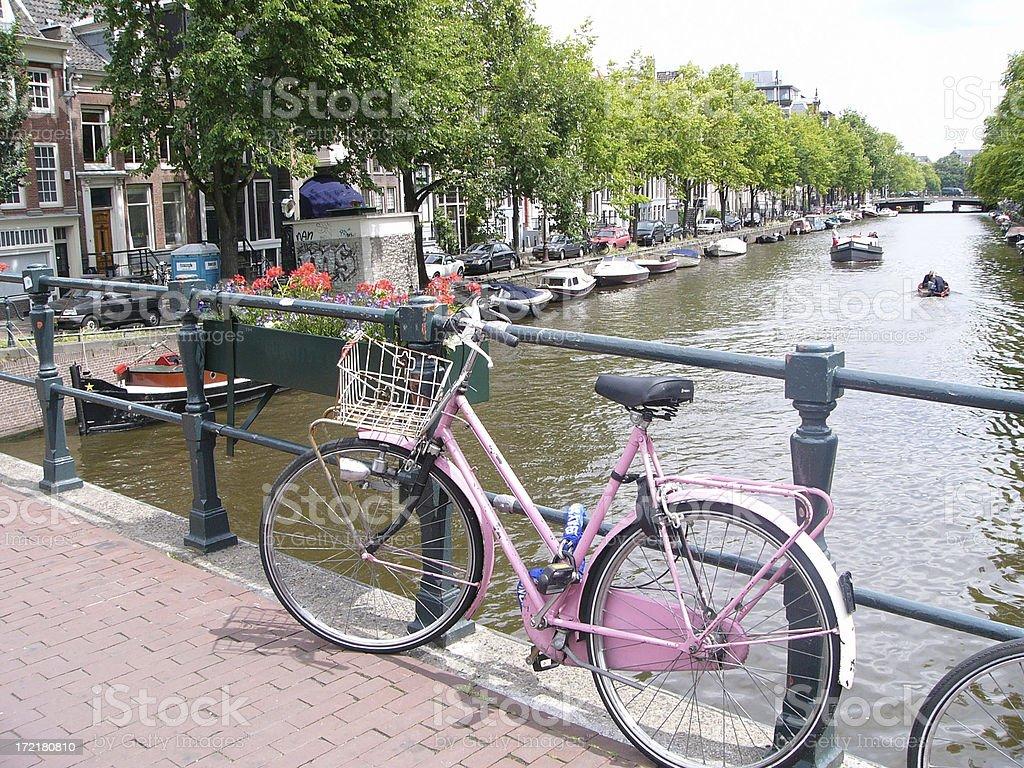 Amsterdam bike stock photo