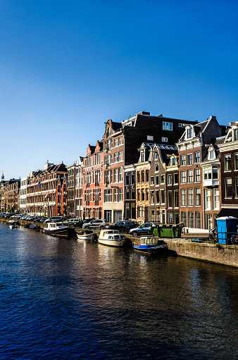 Amsterdam Canal And Buildings Exterior