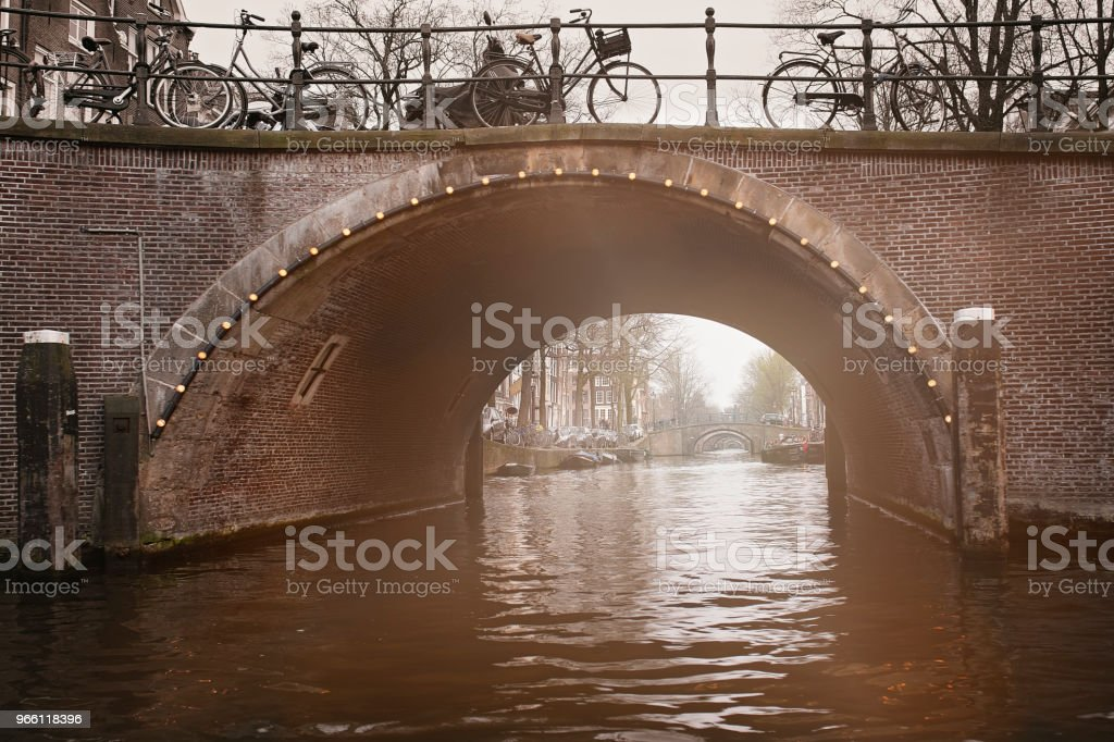Amsterdam, Canal Arches - Royalty-free Amstel River Stock Photo
