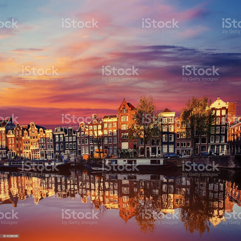 Amsterdam canal on the west. Amsterdam is the capital Amsterdam canal on the west. Amsterdam is the capital and most densely populated city in the Netherlands. Amsterdam Stock Photo