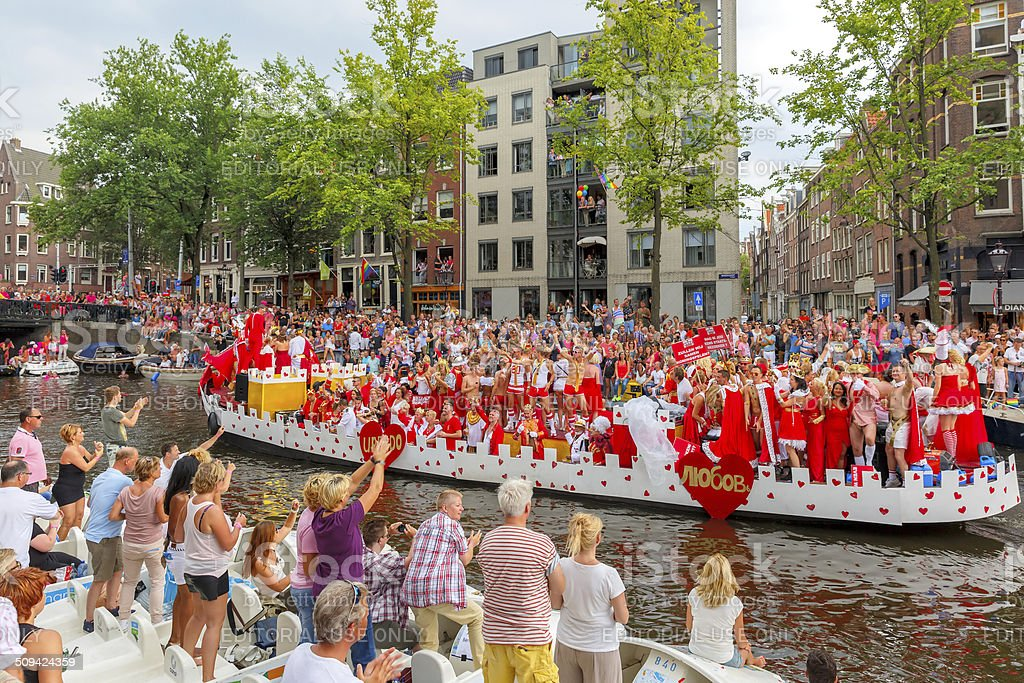 Amsterdam Canal Parade 2014 royalty-free stock photo