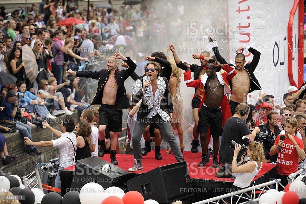 Amsterdam Canal Parade royalty-free stock photo
