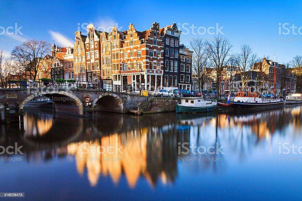 Канал Амстердам стоковое фото