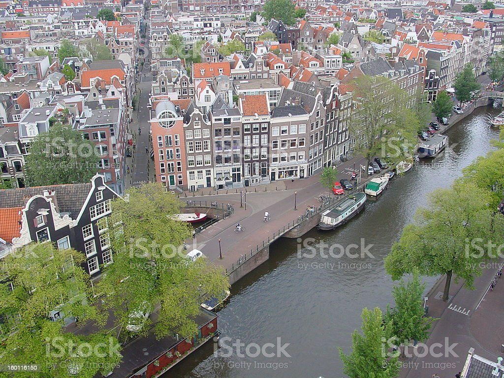 Amsterdam canal Prinsengracht stock photo