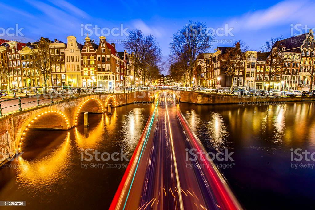 Amsterdam canal, The Netherlands stock photo