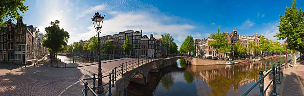 amsterdam canals, holland - keizersgracht stockfoto's en -beelden